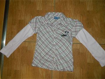 Prodám  Růžová kostkovaná košile s Minnie 75e8d6d0d6
